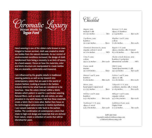 Chromatic Luxury Show Card