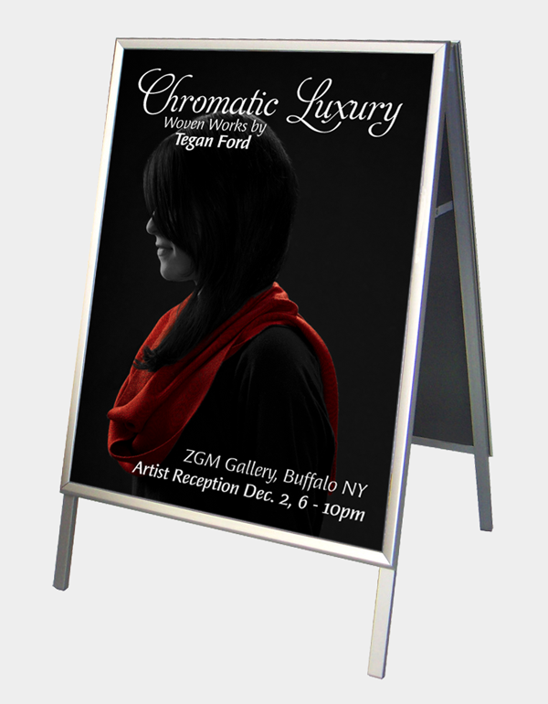Chromatic Luxury A-Frame Sign