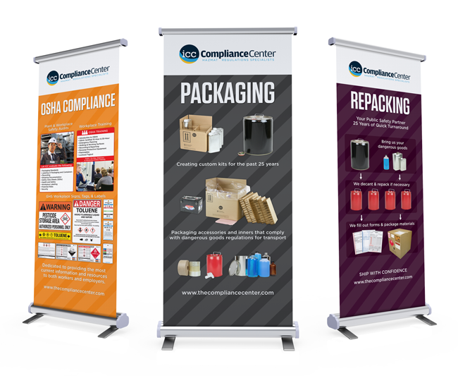 OSHA Compliance, Packaging, & Repackaging Banners