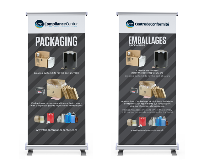 Packaging English and Bilingual Banners
