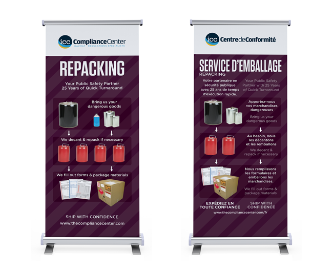 Repacking English and Bilingual Banners